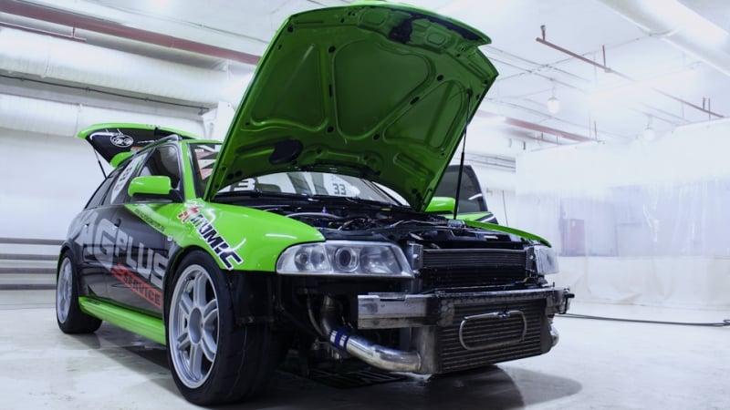 Мойка паром двигателя RS4. Химчистка подвески с дальнейшей консервацией составом Motor Plast от Koch Chemie