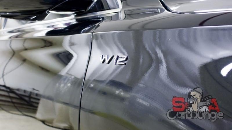 Детейлинг паром подкапотного пространства Audi A8 D4 W12. Консервация результата Motor Plast от Koch Chemie