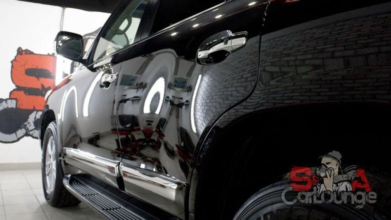 Комплексные восстановительные работы ЛКП кузова Toyota Land Cruiser 200. Комплексная химчистка интерьера, нанесение антидождя и мойка радиаторов
