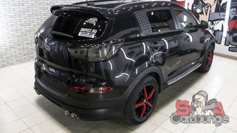 Чистка подкапотного пространства паром автомобиля KIA Sportage. Восстановительные работы ЛКП и финишная защита кузова керамикой