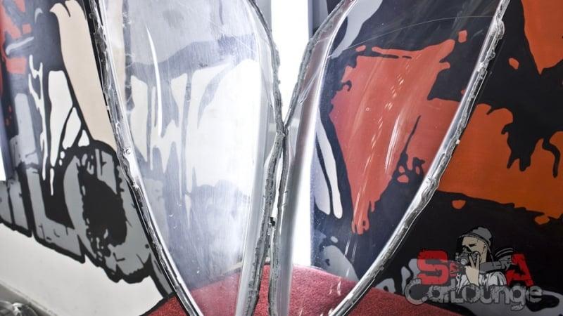 Восстановительные работы фар головной оптики автомобиля Toyota Camry. Последующая полировка и финальная защита