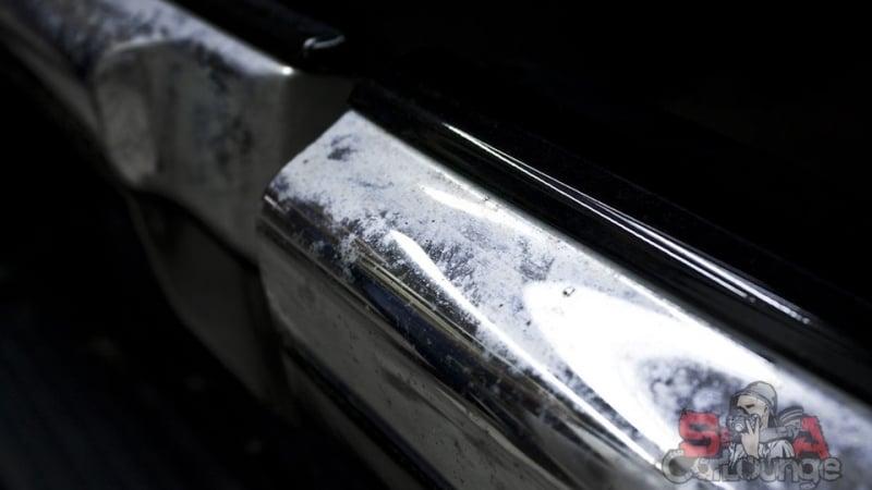 Обработка хромированных деталей экстерьера автомобиля Lexus LX 570. Ручная работа с использованием профессиональных составов.