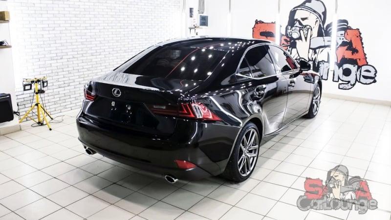 Восстановительные работы лакокрасочного покрытия автомобиля Lexus IS250. Последующая защита с нанесением керамического состава.
