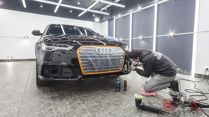 Работа с автомобилем Audi A6 в кузове C7. Комплекс мероприятий по реставрации ЛКП, полировке и нанесении защитного слоя керамического состава