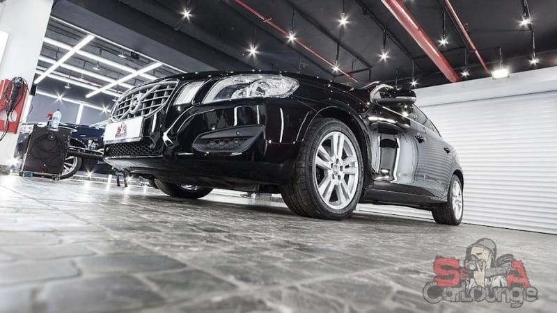 Работа с кузовом автомобиля Volvo S60. Восстановительная полировка, покраска бампера. Финальное нанесение кварцево-керамического покрытия Cquartz UK