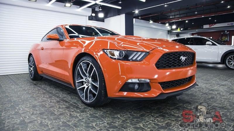 Работа с кузовом Ford Mustang. Мойка с последующей полировкой и защитой ЛКП. Восстановление стекол фар и последующая защита пленкой