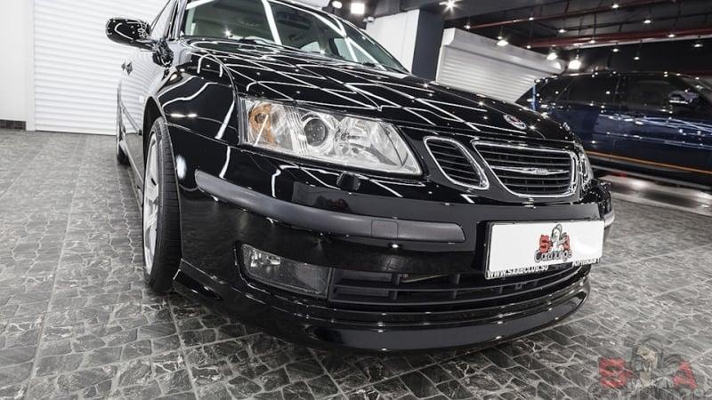 Работа с автомобилем Saab 9-3 после покраски. Восстановительная полировка, работа с кузовом и интерьером авто. Бронь фар SunTek PPF и защита экстерьера спец материалами