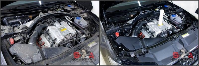 До и после. Чистка двигателя Audi A6