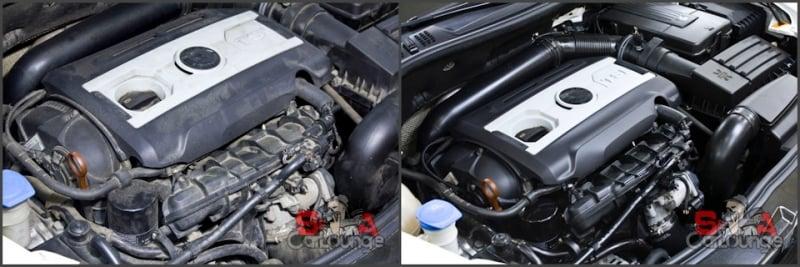 Сухая очистка двигателя - Мойка подкапотного пространства