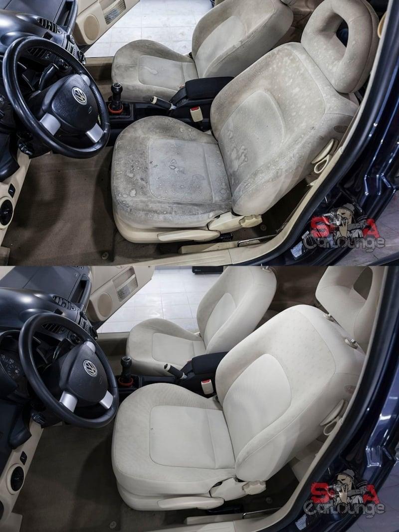 место водителя до и после обработки